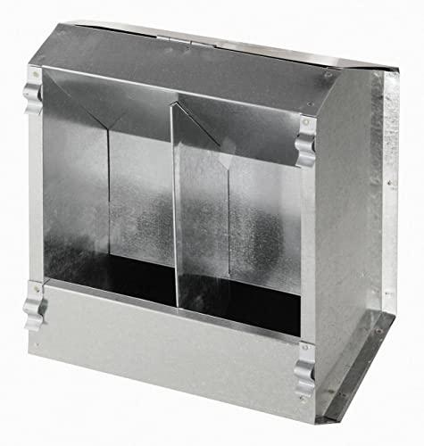 Futterautomat f. Kaninchen 2 Freßplätze aus Metall