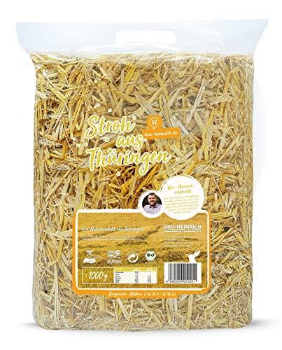 HEU-HEINRICH® 1 kg Bio – Stroh – weiches Einstreu für Ihr Heimtier - 2