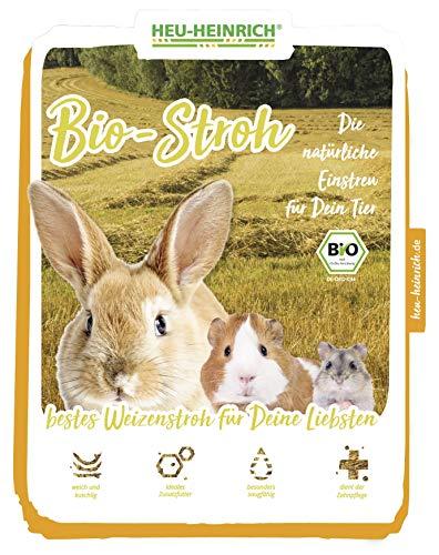 HEU-HEINRICH® 1 kg Bio – Stroh – weiches Einstreu für Ihr Heimtier - 3