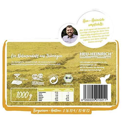 HEU-HEINRICH® 1 kg Bio – Stroh – weiches Einstreu für Ihr Heimtier - 4