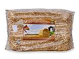 HüGo Stroh Einstreu für Kaninchenstall Nagerstall 10 kg Ballen - naturbelassen sonnengetrocknet, gereinigt und gepresst