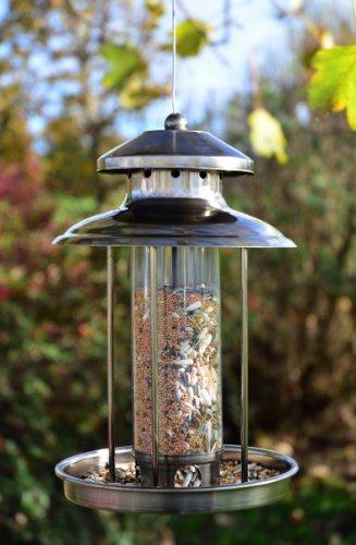 Vogelfutterspender Vogelfutterhaus aus Metall Bird´s Heaven Vogelhaus für Vogelfutter - 5