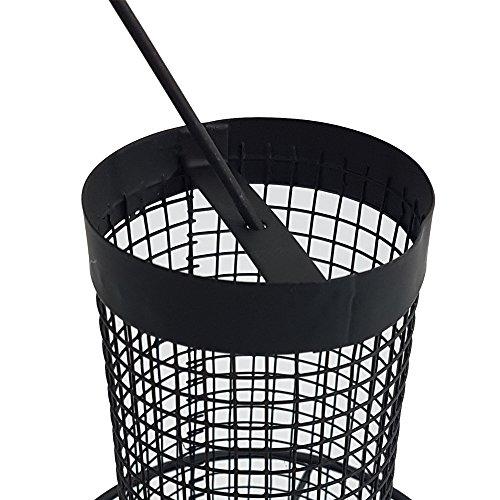 Vogelfutter-Station 31 cm Vogelhaus zum Hängen Futterspender aus schwarzem Metallgitter Vogelfutter-Spender perfekt für Nüsse und Sonnenblumenkerne - 4
