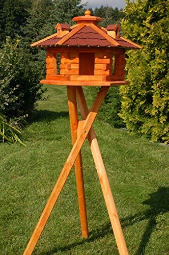 sechseckiges Vogelhaus mit Ständer, Bitumschindeln