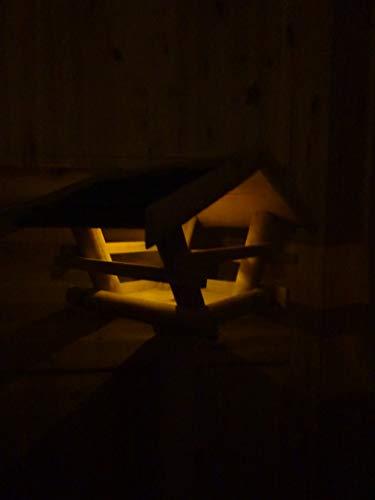 Vogelhaus Vogelfutterstation mit Ständer, Solar Led Beleuchtung - 2