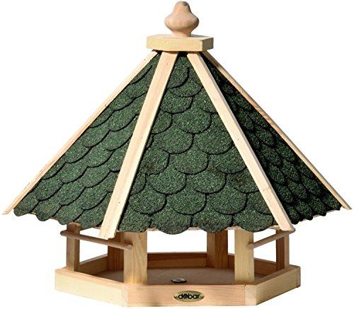 dobar 98521FSCe Klassisches Vogelhaus aus Holz, groß XL, 45 x 51 x 41 cm