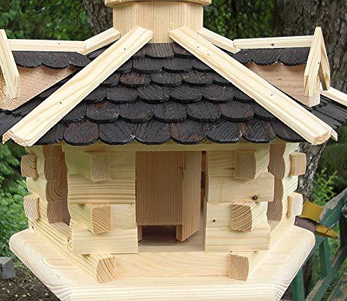 Vogelhaus-Gaube Groß (V31) Vogelhäuser Vogelfutterhaus Vogelhäuschen-aus Holz- - 2