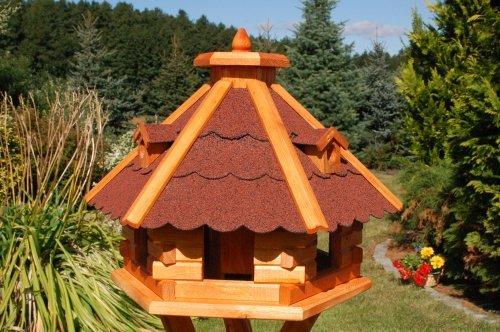 Vogelhäuschen, Vogelhaus mit Bitumschindeln, behandelt