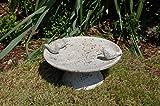 Vogeltränke Vogelbad Vogelbecken Gartendeko Vogel Tränke Wasserschale Wassertränke Grau - 8