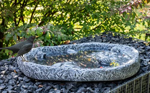 Vogeltränke Wasserbecken Steinguss Schiefergrau - 2