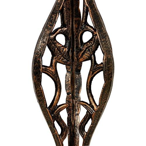 Dekorative Vogeltränke aus massivem Gusseisen, Schale aus rostfreiem Aluminium, 80 x 50 cm, 15 kg, Farbe bronze - 6