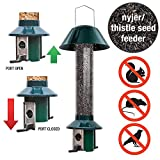 Eichhörnchensichere Nyjer/Distel Vogelfuttersäule Roamwild Pest, Off-nicht für Samen, gemischt oder Erdnüssen