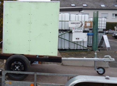 VOLLISOLIERTE mobile Weidetränke / fahrbare Tränke 1000 Liter (8) inkl. BEHEIZBARER TRÄNKE IBC Tank auf Kunststoffpalette auf Anhängen Komplett neu