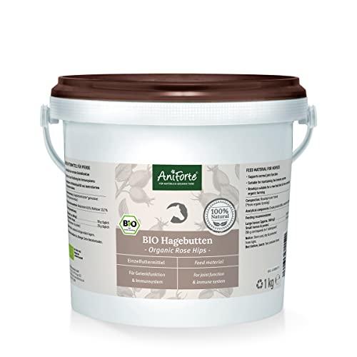 AniForte Hagebutten ganze Früchte naturrein 1 kg glutenfrei Vitamin C hoher Fruchtgehalt - Naturprodukt für Tiere