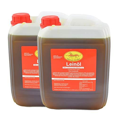 Leinöl aus erster Kaltpressung, 2 x 5 Liter