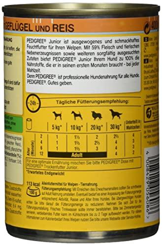 Pedigree Junior Hundefutter Geflügel und Reis, 12 Dosen (12 x 400 g) - 2