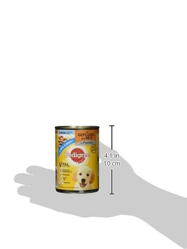 Pedigree Junior Hundefutter Geflügel und Reis, 12 Dosen (12 x 400 g) - 4