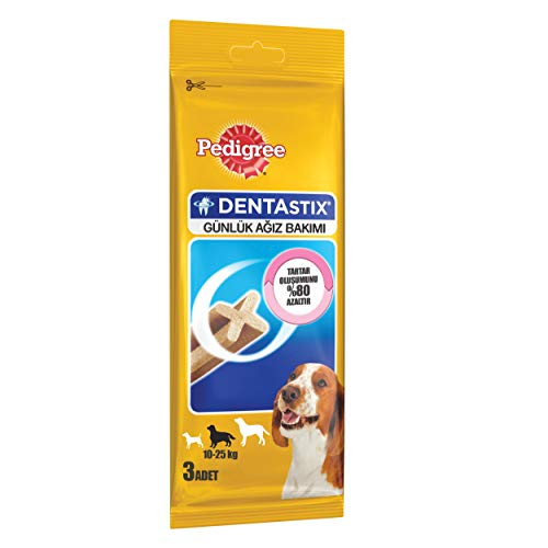 Pedigree DentaStix Snacks für mittelgroße Hunde 3 Stück/77 g Probiergröße, 6-er Pack (6 x 77 g)