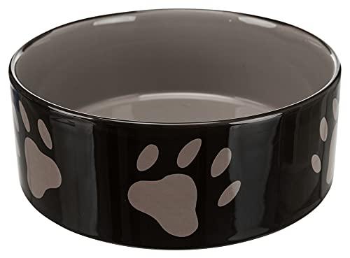 Trixie 24533 Napf mit Pfoten, Keramik 1,4 Liter/ø 20 cm, braun / creme