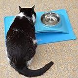 SuperDesign Fressnapf und Matte Vorteilspackung für Hunde und Katzen, klein, Schwarz - 3