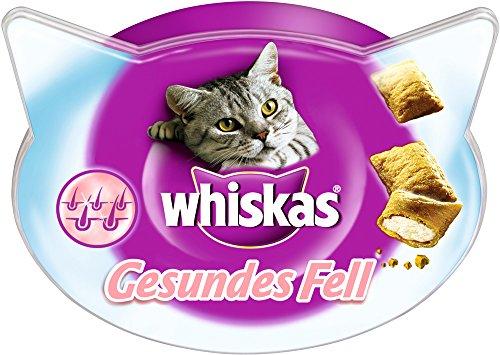 Whiskas Gesundes Fell Katzensnacks, 8 Packungen (8 x 50 g)