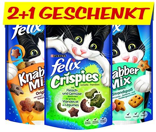 Felix Katzensnack Snackbox 12 + 6 gratis, 1 Packung (1 x 990 g)