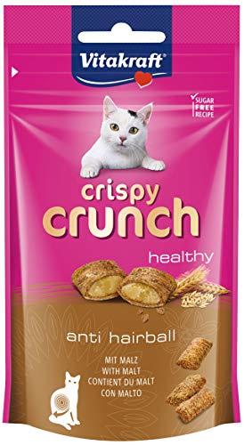 Vitakraft Katzensnacks, Knusprige Getreidekissen mit Malz, Cremige Füllung, Gegen Haarballen, Crispy Crunch, 28811, 60 g