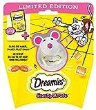 Dreamies Snacky Mouse - Dreamies Snacks Käse mit Katzenspielzeug 3set