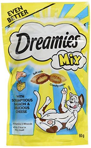 Dreamies Katzensnack Mix mit Lachs und Käse 60g