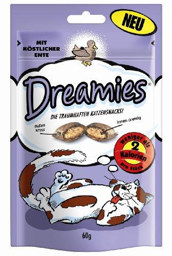 Dreamies Katzensnack mit Ente 60g, 3-er Pack (3 x 60g)