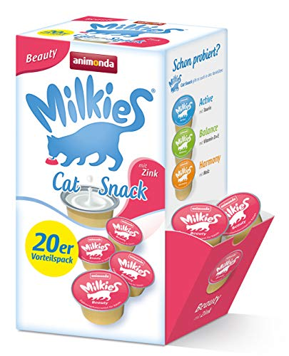 Animonda Milkies Beauty 20 x 5 gram Cup, 4er Pack (4 x 300 g)