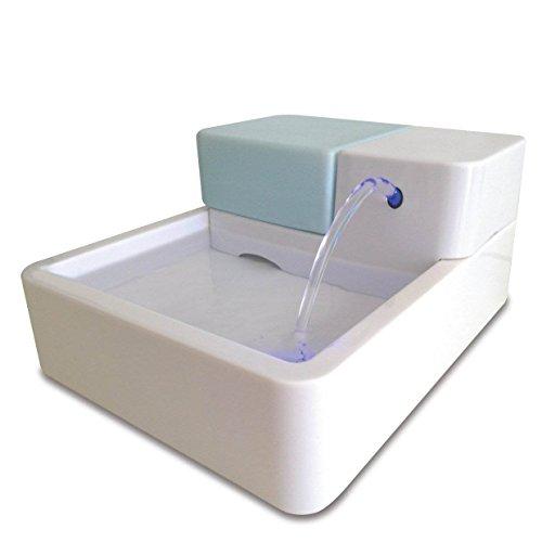 Hund Katze Trinkbrunnen Haustierbrunnen LED automatische Haustier-Wasser-Trinkbrunnen mit Kohlefilter und zirkulierenden Wasserspender UV-Desinfektion (LED+UV Desinfektion)
