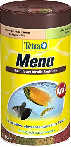 TetraMin Menu Hauptfuttermix (für alle Zierfische, 4 verschiedene Flocken in 4 getrennten Kammern, ideal für Fische sämtlicher Wasserzonen), 250 ml Dose - 3