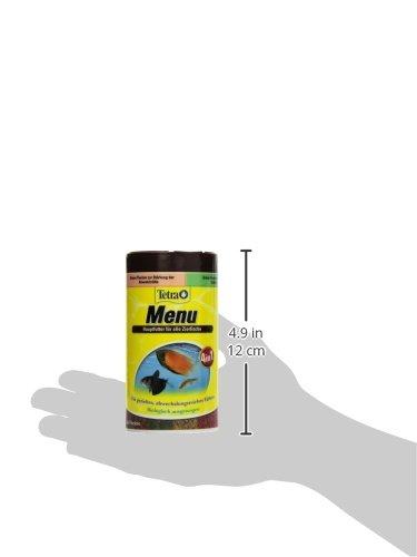 TetraMin Menu Hauptfuttermix (für alle Zierfische, 4 verschiedene Flocken in 4 getrennten Kammern, ideal für Fische sämtlicher Wasserzonen), 250 ml Dose - 6
