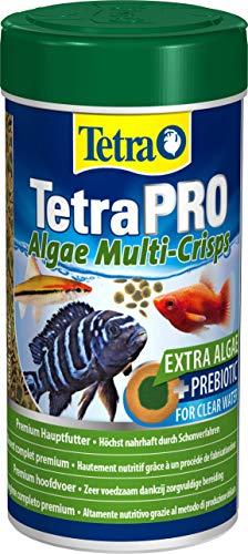 Tetra Pro Algae Premiumfutter (für alle tropischen Zierfische, mit Algenkonzentrat zur Verbesserung der Widerstandskraft, Vitaminstabilität und hoher Nährwert, Spirulina-Alge), 250 ml Dose