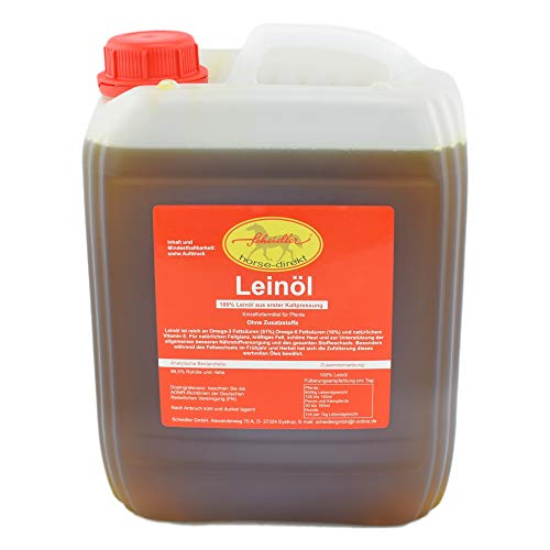 Leinöl aus erster Kaltpressung, 5 Liter