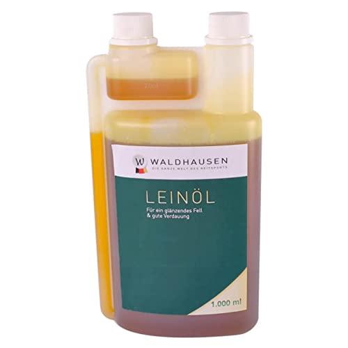 Waldhausen Lein-Öl - Glänzendes Fell und gute Verdauung, 1 l, 1 Liter