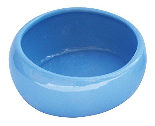 Living World 61683 ergonomischer Keramiknapf für Kleintiere, blau, groß