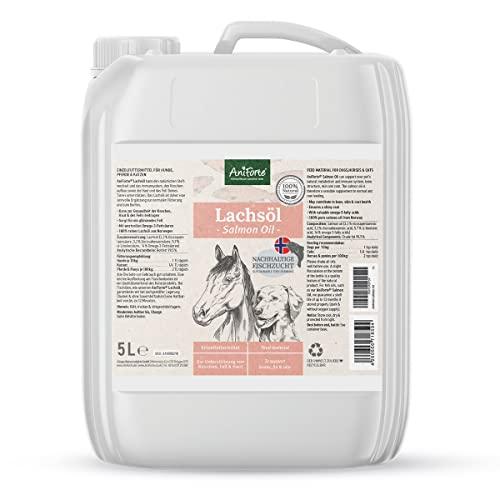 AniForte Omega 3-Lachsöl 5 Liter Kanister - Naturprodukt für Hunde und Pferde