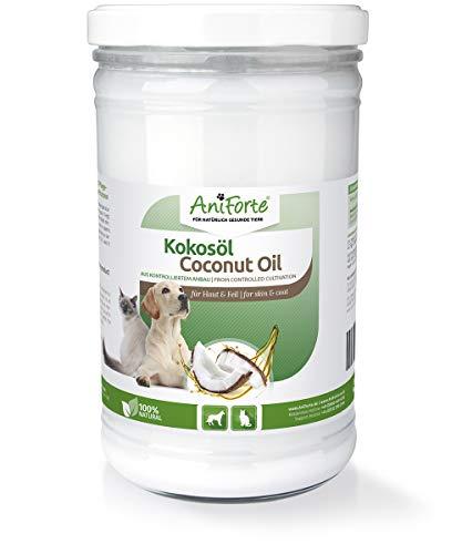 AniForte Kokosöl aus kontrolliertem Bioanbau 1 Liter - Naturprodukt für Hunde und Katzen