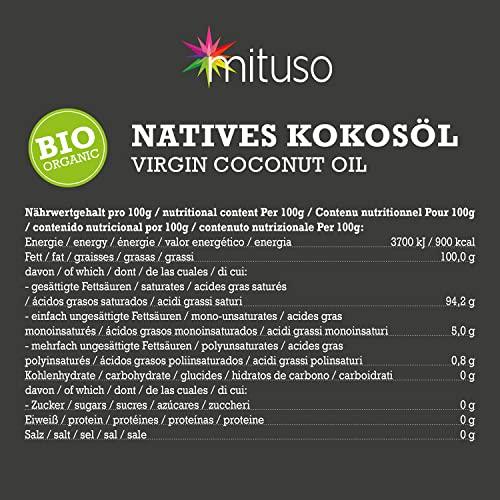 mituso Bio Kokosöl, nativ, 1er Pack (1 x 1000 ml) im Drahtbügelglas - 6