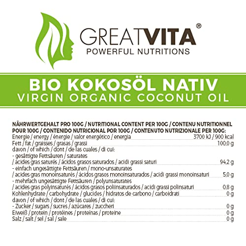MeaVita Bio Kokosöl, nativ, 1er Pack (1 x 1000 ml) - 6
