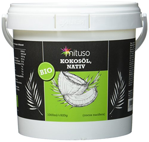 mituso Bio Kokosöl, nativ, 1er Pack (1 x 1 l) im Eimer