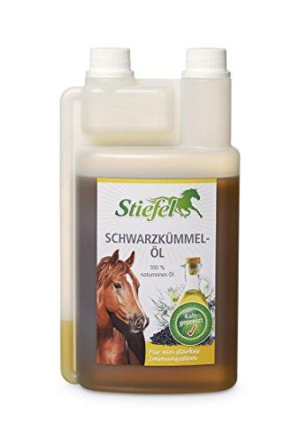 Stiefel Schwarzkümmelöl 250 ml für Tiere-Pferde 100% naturrein für ein starkes Immunsystem, Abwehrkräfte, Haut, Fell + Atemwege