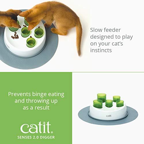 catit 42985W Senses 2.0 Aktiv-Futternapf, weiß/grün - 2