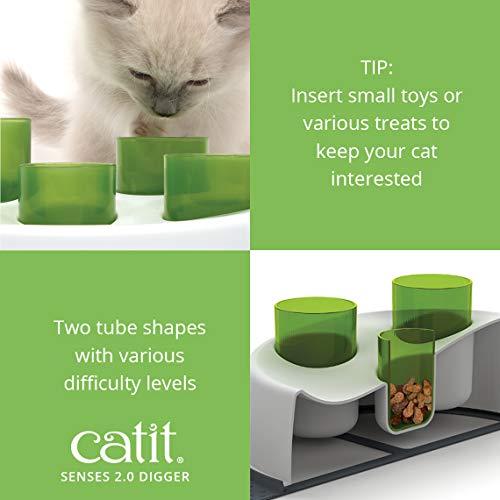 catit 42985W Senses 2.0 Aktiv-Futternapf, weiß/grün - 7