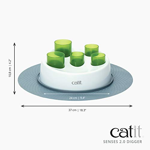 catit 42985W Senses 2.0 Aktiv-Futternapf, weiß/grün - 5