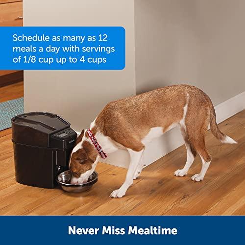PetSafe Futterautomat, automatischer programmierbarer Futternapf mit Timer, Fressnapf, für Hunde und Katzen, 12 portionierbare Mahlzeiten, batteriebetrieben, digital, rutschfest - 2