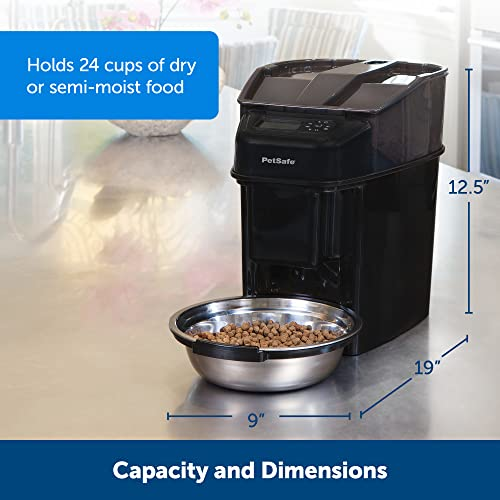 PetSafe Futterautomat, automatischer programmierbarer Futternapf mit Timer, Fressnapf, für Hunde und Katzen, 12 portionierbare Mahlzeiten, batteriebetrieben, digital, rutschfest - 5