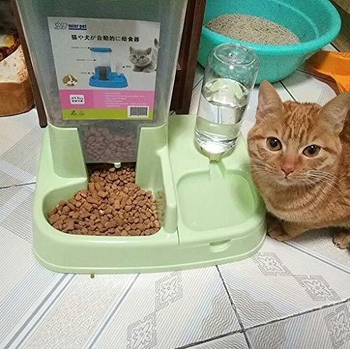scrox 2in 1automatische Futterautomat für Hunde und Katzen Praktische multifunktionale Lebensmittel und Katzenbrunnen combinationl 1, grün, 1 - 3
